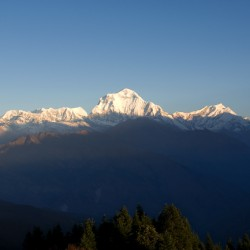 annapurna range at dawn