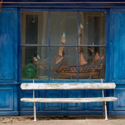 window with ship