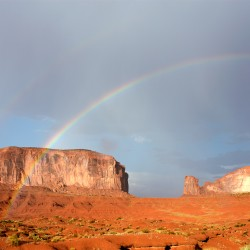 monument valley with rainbow